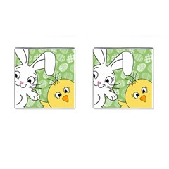 Easter bunny and chick  Cufflinks (Square)