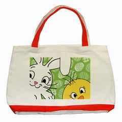 Easter bunny and chick  Classic Tote Bag (Red)