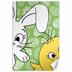 Easter bunny and chick  Canvas 24  x 36
