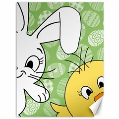 Easter bunny and chick  Canvas 36  x 48