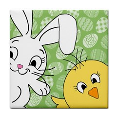 Easter bunny and chick  Face Towel