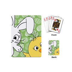 Easter bunny and chick  Playing Cards (Mini)
