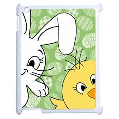 Easter bunny and chick  Apple iPad 2 Case (White)