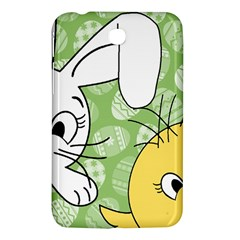 Easter bunny and chick  Samsung Galaxy Tab 3 (7 ) P3200 Hardshell Case
