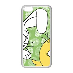 Easter bunny and chick  Apple iPhone 5C Seamless Case (White)