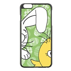 Easter bunny and chick  Apple iPhone 6 Plus/6S Plus Black Enamel Case