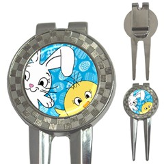 Easter bunny and chick  3-in-1 Golf Divots