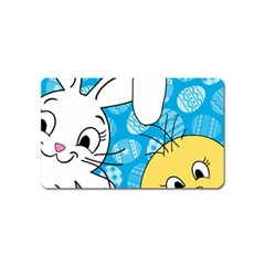 Easter bunny and chick  Magnet (Name Card)