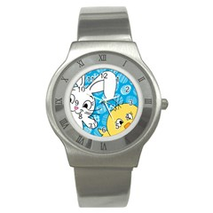 Easter bunny and chick  Stainless Steel Watch