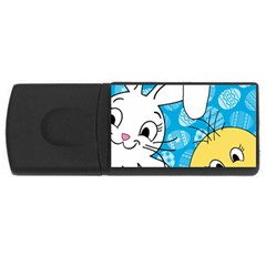Easter bunny and chick  USB Flash Drive Rectangular (4 GB)