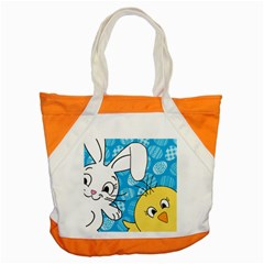 Easter bunny and chick  Accent Tote Bag