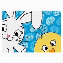 Easter bunny and chick  Large Glasses Cloth (2-Side)