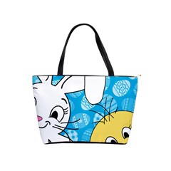 Easter bunny and chick  Shoulder Handbags