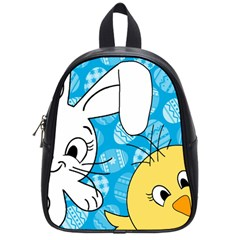 Easter bunny and chick  School Bags (Small)