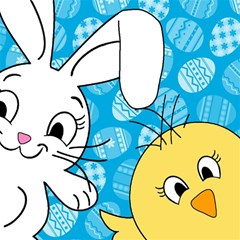 Easter bunny and chick  Magic Photo Cubes