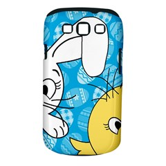 Easter bunny and chick  Samsung Galaxy S III Classic Hardshell Case (PC+Silicone)