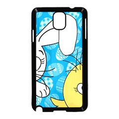 Easter bunny and chick  Samsung Galaxy Note 3 Neo Hardshell Case (Black)