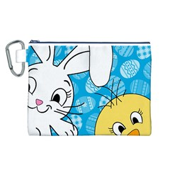 Easter bunny and chick  Canvas Cosmetic Bag (L)