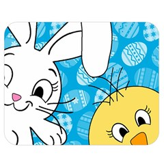 Easter bunny and chick  Double Sided Flano Blanket (Medium)