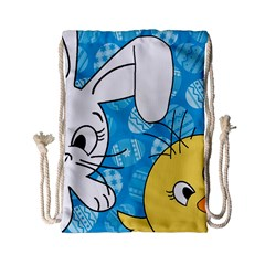 Easter Bunny And Chick  Drawstring Bag (small)