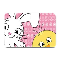 Easter bunny and chick  Small Doormat