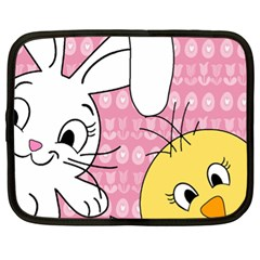 Easter bunny and chick  Netbook Case (XL)