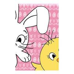 Easter bunny and chick  Shower Curtain 48  x 72  (Small)