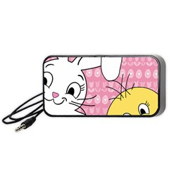 Easter bunny and chick  Portable Speaker (Black)