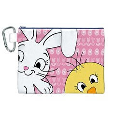 Easter bunny and chick  Canvas Cosmetic Bag (XL)
