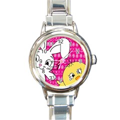 Easter Round Italian Charm Watch