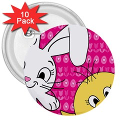 Easter 3  Buttons (10 pack)