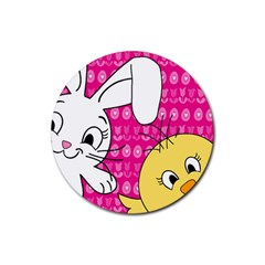 Easter Rubber Round Coaster (4 pack)