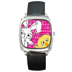 Easter Square Metal Watch