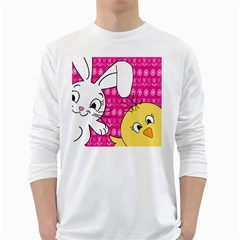 Easter White Long Sleeve T-Shirts