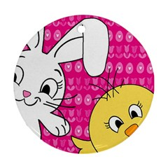 Easter Round Ornament (Two Sides)