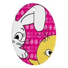 Easter Oval Ornament (Two Sides)