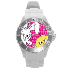 Easter Round Plastic Sport Watch (L)