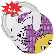Easter 3  Buttons (100 pack)