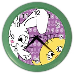 Easter Color Wall Clocks