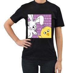 Easter Women s T-Shirt (Black)