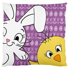 Easter Large Flano Cushion Case (One Side)