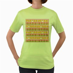 Easter - chick and tulips Women s Green T-Shirt