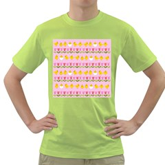 Easter - chick and tulips Green T-Shirt