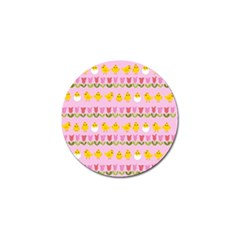 Easter - chick and tulips Golf Ball Marker (4 pack)