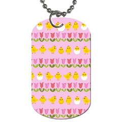 Easter - chick and tulips Dog Tag (Two Sides)