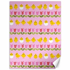 Easter - chick and tulips Canvas 36  x 48