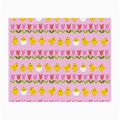 Easter - chick and tulips Small Glasses Cloth (2-Side)