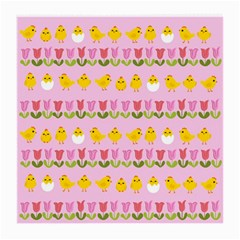 Easter - chick and tulips Medium Glasses Cloth (2-Side)