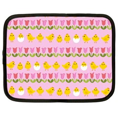 Easter - chick and tulips Netbook Case (XL)