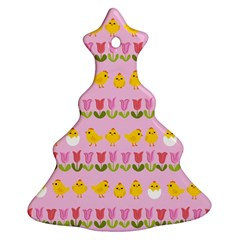 Easter   Chick And Tulips Ornament (christmas Tree)